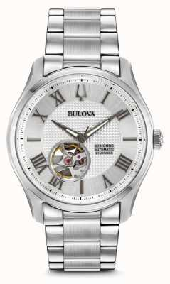 Bulova Mens Wilton automatische Edelstahl Silber Uhr 96A207