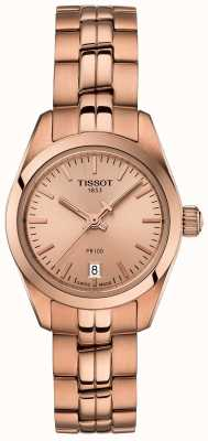 Tissot Damen pr100 Rose Gold Armband Perlmutt Zifferblatt Uhr T1010103345100