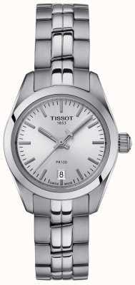 Tissot Damen pr100 Edelstahlarmband Silber Zifferblatt Uhr T1010101103100