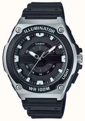 Casio Herrenuhr aus schwarzem Kunstharz MWC-100H-1AVEF