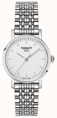 Tissot Womens immer Edelstahl Armband Silber Zifferblatt T1092101103100