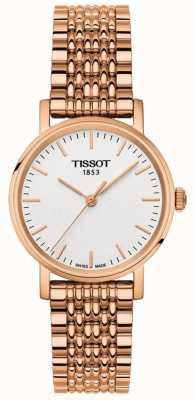Tissot Womens immer Rose gold vergoldetes Zifferblatt T1092103303100