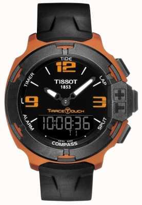 Tissot Mens T-Race Touch Alarm schwarz Kautschukband T0814209705703