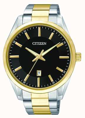 Citizen Mens Zweiton Quarz schwarz Zifferblatt Datum BI1034-52E