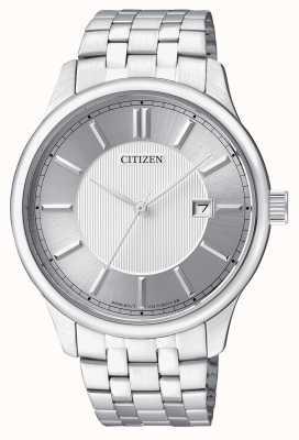 Citizen Mens Quarz Edelstahl minimale Design Datumsanzeige BI1050-56A