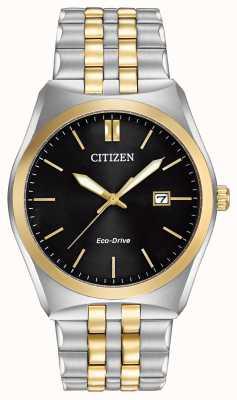 Citizen Eco-Drive Corso Wr100 | schwarzes Zifferblatt | Edelstahlband | BM7334-58E