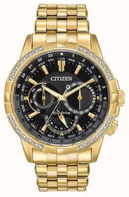 Citizen Mens calendrier Eco-Drive vergoldet 32 Diamanten BU2082-56E