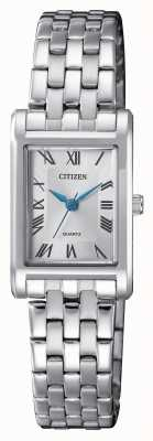 Citizen Damen Quarz Silber Zifferblatt Armband EJ6120-54A
