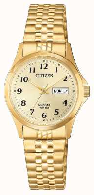 Citizen Damen Quarz-Edelstahl-Expansionsuhr EQ2002-91P