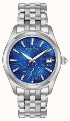 Citizen Womens Eco-Drive blaues Zifferblatt aus Edelstahl wr100 EV1030-57N