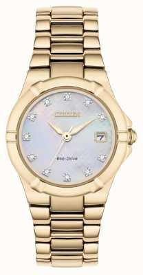 Citizen Damen Eco-Drive Diamant Zifferblatt rosé vergoldet EW1533-50D