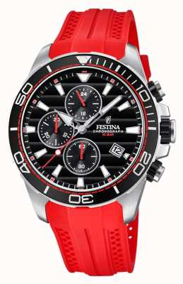 Festina Tour of Britain 2018 Chrono rot Kautschukband F20370/3