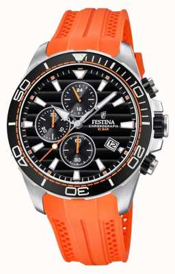 Festina Tour of England 2018 Chrono orange Kautschukband F20370/4