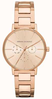 Armani Exchange Lola Damen Rose Gold PVD überzogen AX5552