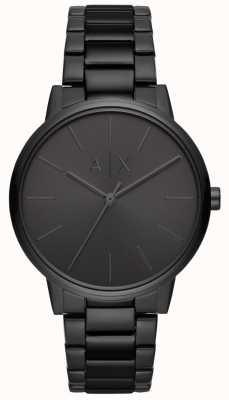 Armani Exchange Cayde Herren schwarz PVD überzogenes Armband AX2701