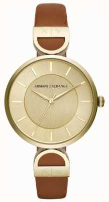 Armani Exchange Brooke Womens braunes Lederarmband AX5324