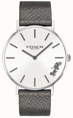 Coach Damen Perry grau Lederband Uhr 14503155