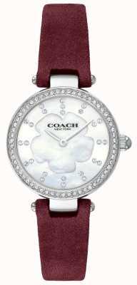 Coach Womens moderner Luxus Burgunder Lederband Perlmutt 14503102
