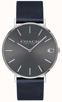 Coach Herren Charles Navy Armband grau Zifferblatt 14602150