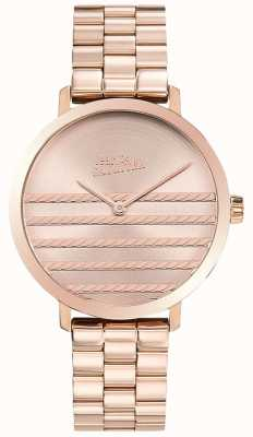 Jean Paul Gaultier Glam Womens Rose Gold Ton Metall Uhr JP8505608