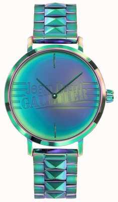 Jean Paul Gaultier Regenbogeneffekt-Metalluhr der Frauen des schlechten Mädchens grüne JP8505705