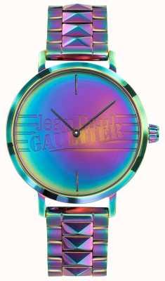Jean Paul Gaultier Regenbogen-Effektmetalluhr der schlechten Mädchenfrauen purpurrote JP8505706