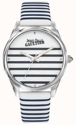 Jean Paul Gaultier Marineblau Damen Streifen Lederband JP8502416