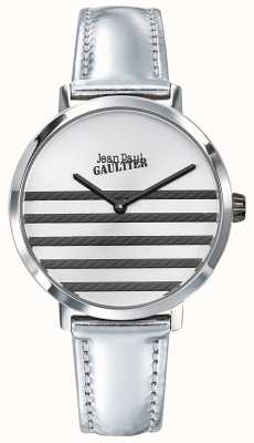 Jean Paul Gaultier Glam navy Damen Silber Lederband Uhr JP8505607