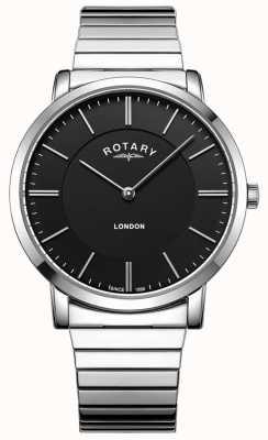 Rotary Mens London Edelstahl expandierende Armbanduhr GB02765/04