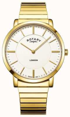 Rotary Herren London Gold Edelstahl Expansionsarmband Uhr GB02766/03