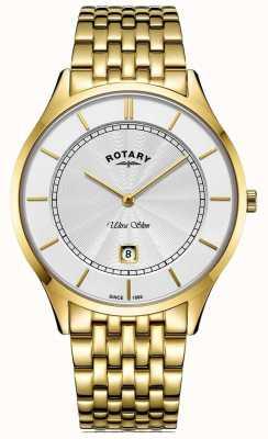 Rotary Ultra Slim vergoldetes Herrenarmband für Herren GB08413/02