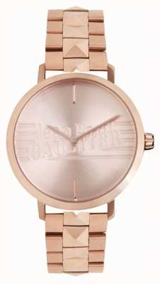 Jean Paul Gaultier Armbanduhr des schlechten Mädchens der Frauen Rosafarbener Goldton 8505701