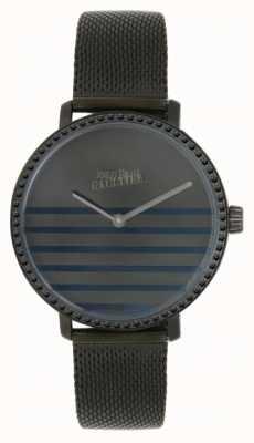 Jean Paul Gaultier (keine Box) Damen Glam Navy Gunmental Mesh Armband Uhr 8505602
