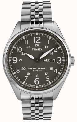Timex Menswaterbury traditioneller Tagesdateschwarzstahl TW2R89300