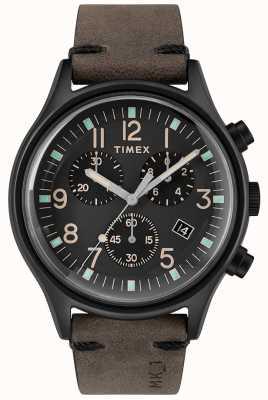 Timex Herren MK1 SST Chrono 42mm schwarzes Gehäuse schwarzes Zifferblatt TW2R96500