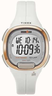 Timex Iron man essentielle weiße und roségoldene Uhr TW5M19900SU