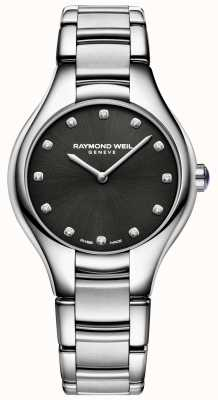 Raymond Weil Damen Noemia Black Diamond Set Zifferblatt 5132-ST-20081