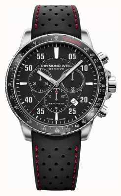 Raymond Weil Herren Tango schwarz Chronograph Kautschukband 8570-SR1-05207
