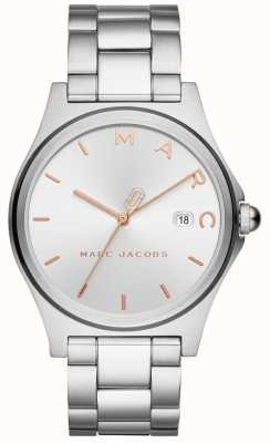 Marc Jacobs Womens Henry Uhr Silber Ton MJ3583