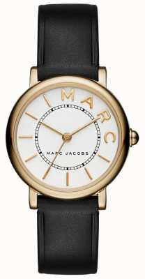 Klassische Herrenuhr von Marc Jacobs aus schwarzem Leder MJ1537