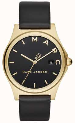 Marc Jacobs Damenuhr aus schwarzem Lederarmband MJ1608