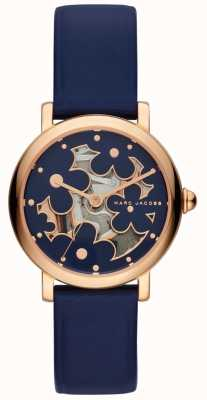 Marc Jacobs Damen marc jacobs klassisches Uhr Marine Leder MJ1628