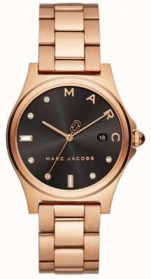 Marc Jacobs Rosafarbener Goldton der Frauen henry Uhr MJ3600