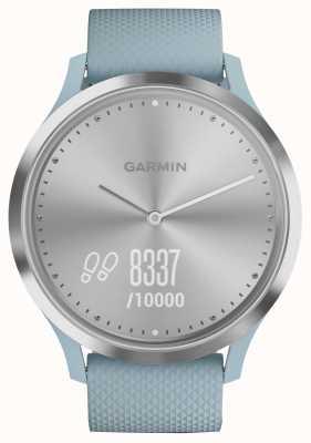 Garmin Vivomove HR Activity Tracker blaues silbernes Gummizifferblatt 010-01850-08