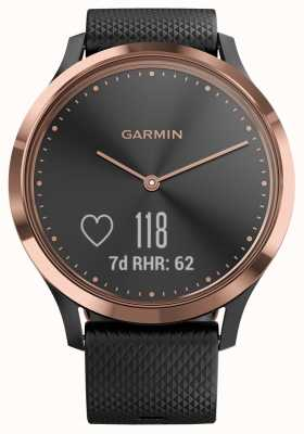 Garmin Vivomove hr Activity Tracker aus schwarzem Gummi Roségold 010-01850-06