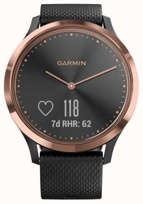 Garmin Vivomove hr Activity Tracker aus schwarzem Roségoldgehäuse 010-01850-06