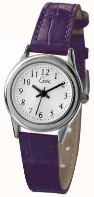 Limit Weißes Zifferblatt mit violettem Armband für Damen 6932