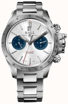 Ball Watch Company Ingenieur Hydrocarbon Racer Chronograph 42mm silbernes Zifferblatt CM2198C-S2CJ-SL