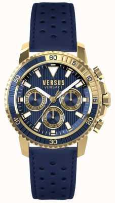 Versus Versace Herren Aberdeen blaues Lederband blaues Zifferblatt S30020017