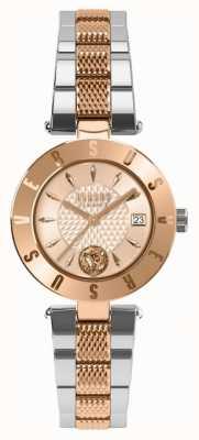 Versus Versace Damen-Logo Roségold Zifferblatt zweifarbig Armband SP77260018